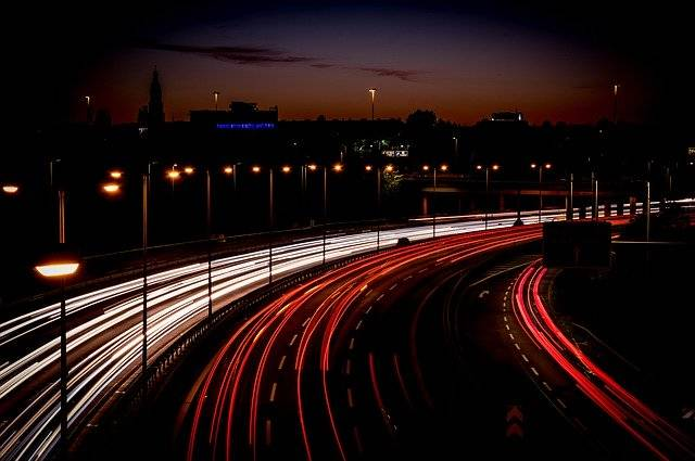Highway Light Trail Long Exposure - Free photo on Pixabay (751318)