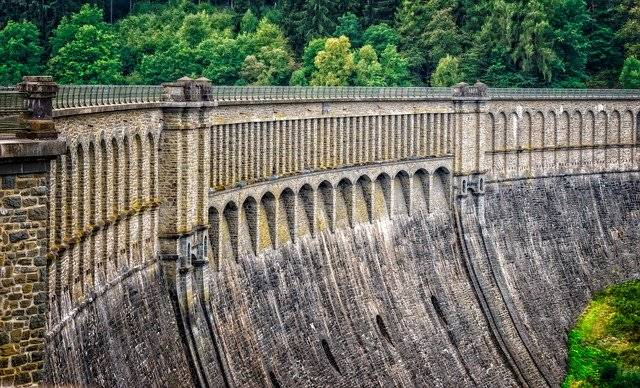 Dam Wall Barrier Hold - Free photo on Pixabay (751598)