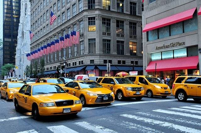 Manhattan Taxis 5Th Avenue Fifth - Free photo on Pixabay (751784)