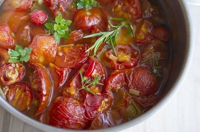 Stewed Tomatoes Dish Soup Italian - Free photo on Pixabay (752151)