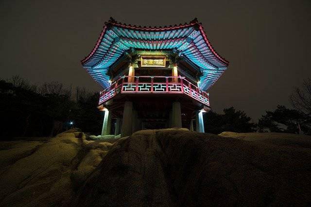 Night View Goguryeo Jung Achasan - Free photo on Pixabay (752187)