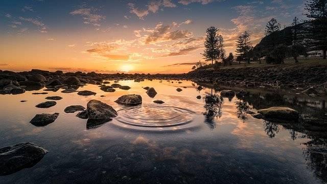 Landscape Lake Sunset - Free photo on Pixabay (753753)
