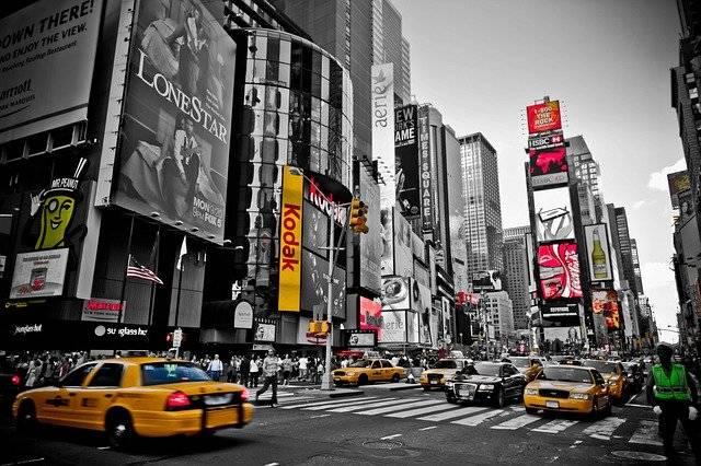 New York Red Yellow - Free photo on Pixabay (754397)