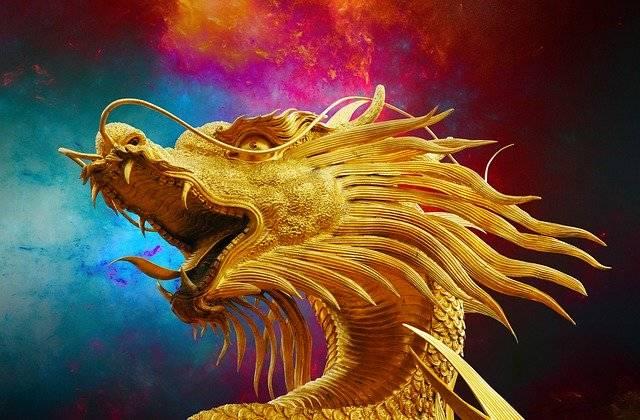 Dragon Broncefigur Golden - Free photo on Pixabay (755384)