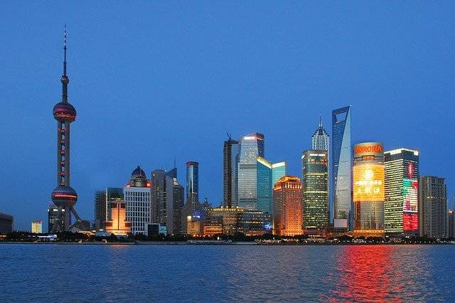 Shanghai Skyline Blue - Free photo on Pixabay (756026)