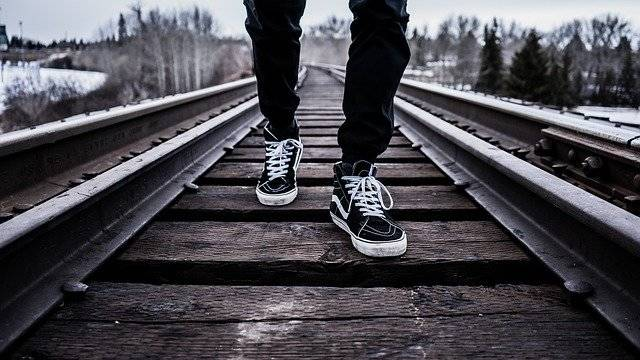Shoes Walking Railroad Tracks - Free photo on Pixabay (756613)