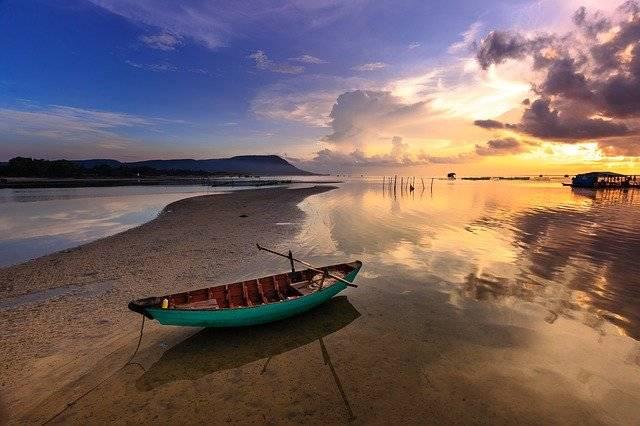 Sunset Boat Fishing - Free photo on Pixabay (756682)