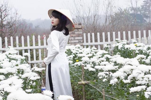 Girl Ao Dai Flower - Free photo on Pixabay (756901)