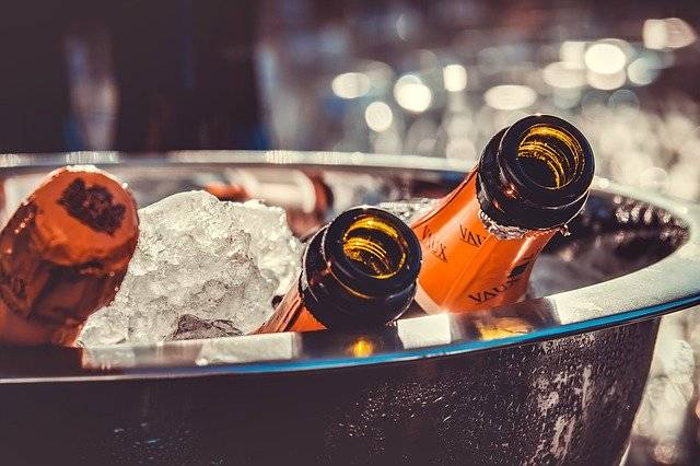 Champagne Bottles Ice - Free photo on Pixabay (760781)