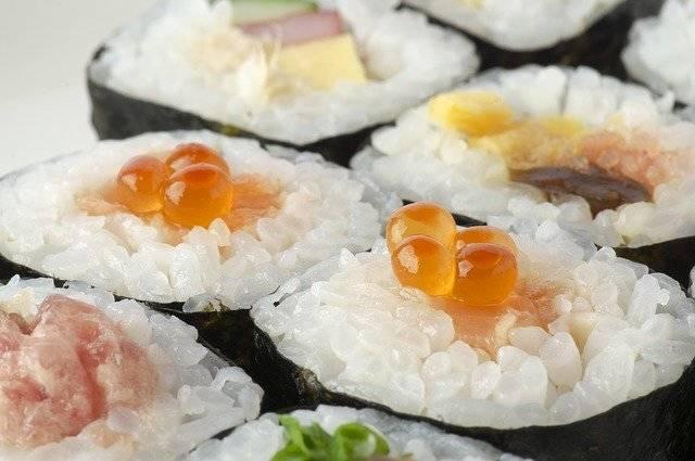 Sushi Rolls Futomaki Seafood - Free photo on Pixabay (762774)