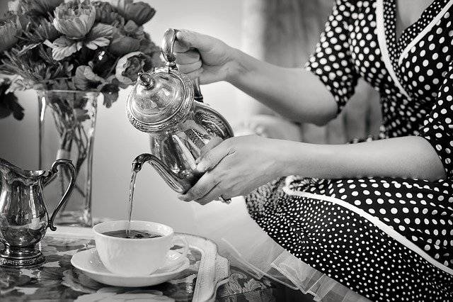 Tea Party Black And White - Free photo on Pixabay (763468)