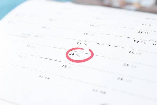 Time Calendar Saturday - Free photo on Pixabay (763967)