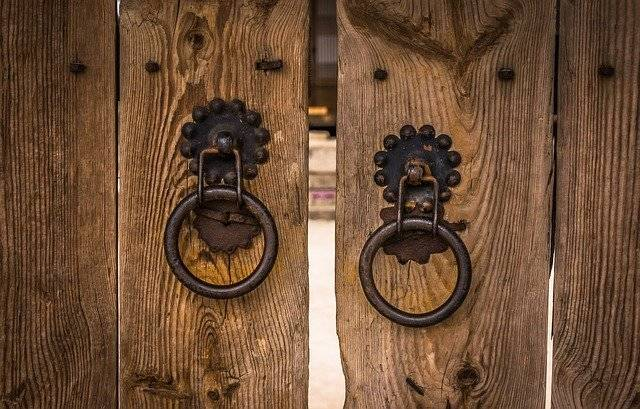 Knocker Traditional Gate The Front - Free photo on Pixabay (764350)