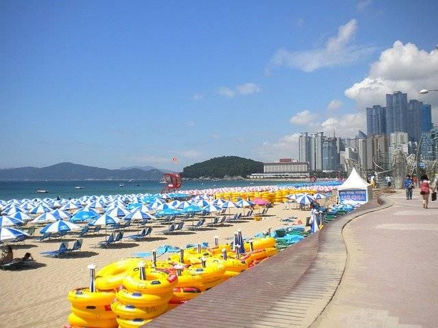 Busan Haeundae Beach Umbrellas - Free photo on Pixabay (764492)