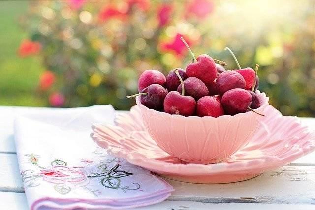 Cherries Bowl Pink - Free photo on Pixabay (764966)