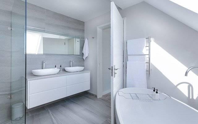Modern Minimalist Bathroom Bath - Free photo on Pixabay (764982)