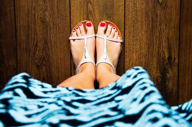 Sandals Feet Red Nails - Free photo on Pixabay (767385)