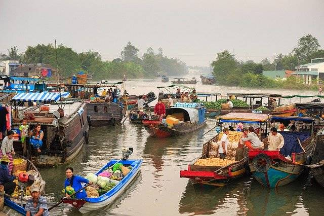 Floating Market On The River - Free photo on Pixabay (769638)