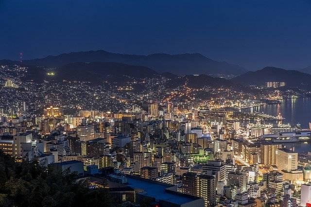 Nagasaki Night View Japan'S Three - Free photo on Pixabay (770392)