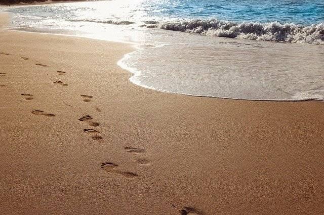 Sand Beach Ocean - Free photo on Pixabay (770551)