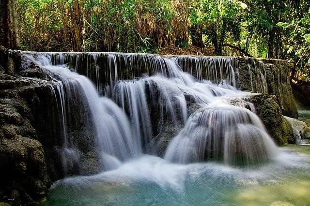 Kuang Si Falls Waterfall Water - Free photo on Pixabay (773571)