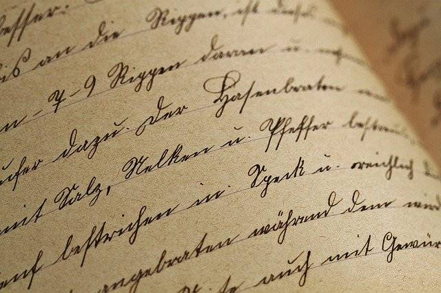 Handwriting Sütterlin Vintage - Free photo on Pixabay (774728)