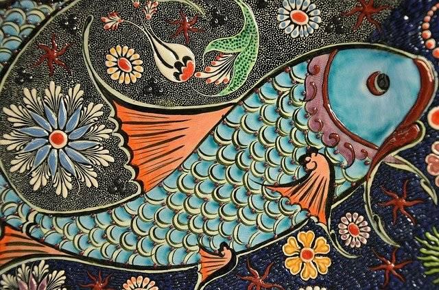 Mosaic Fish Tile - Free photo on Pixabay (775569)
