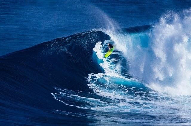 Beach Surfing Wave - Free photo on Pixabay (776954)