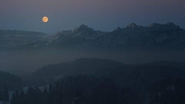 Night Moon Allgäu - Free photo on Pixabay (777053)