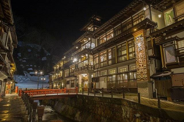 Japan Hot Springs Inn - Free photo on Pixabay (777536)