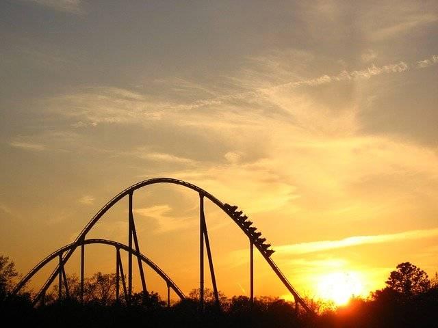 Sunset Roller Coaster Ride - Free photo on Pixabay (780009)