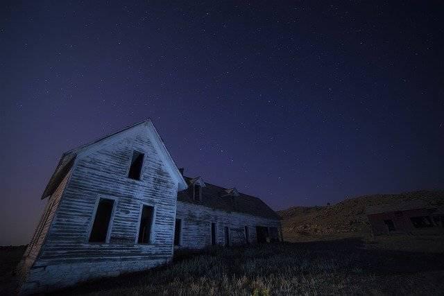 House Abandoned Night - Free photo on Pixabay (781378)