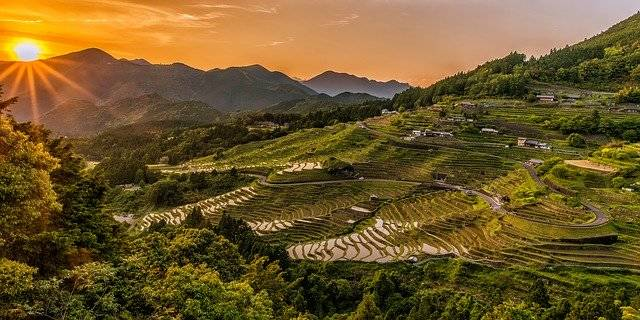 Landscape Rice Terraces Sunset - Free photo on Pixabay (781674)